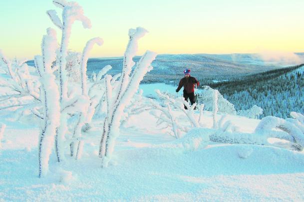 Skitour nördlich des Polarkreises